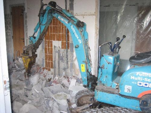 Opbrydning af betongulv